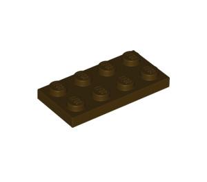 LEGO Dark Brown Plate 2 x 4 (3020)