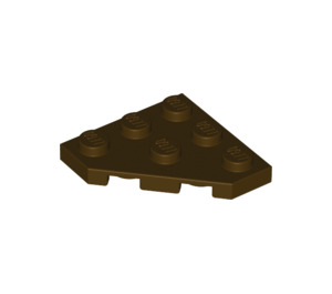 LEGO Dark Brown Plate 3 x 3 without Corner (2450)