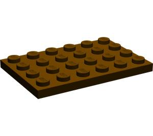 LEGO Dark Brown Plate 4 x 6