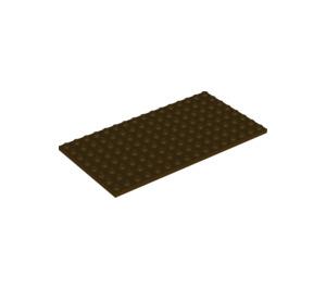 LEGO Dark Brown Plate 8 x 16 (92438)