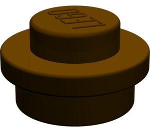 LEGO Dark Brown Round Plate 1 x 1