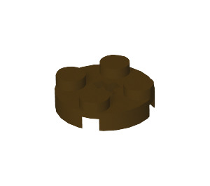 LEGO Dark Brown Round Plate 2 x 2 with Axle Hole (with '+' Axle Hole) (4032)