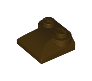 LEGO Dark Brown Slope 2 x 2 Curved with Curved End (47457)