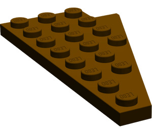 LEGO Dark Brown Wing 4 x 8 Left with Underside Stud Notch