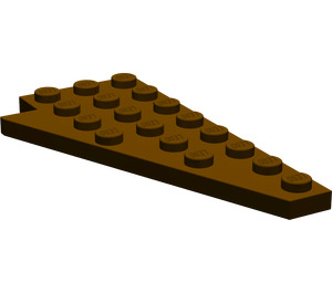 LEGO Dark Brown Wing 4 x 8 Right with Underside Stud Notch