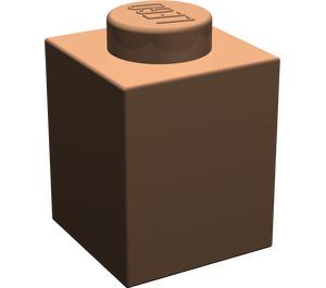 LEGO Dark Flesh Brick 1 x 1 (3005)