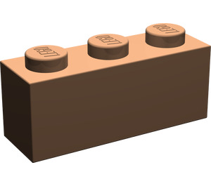 LEGO Dark Flesh Brick 1 x 3 (3622)