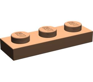 LEGO Dark Flesh Plate 1 x 3 (3623)