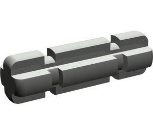 LEGO Dark Gray Axle 2 with Grooves