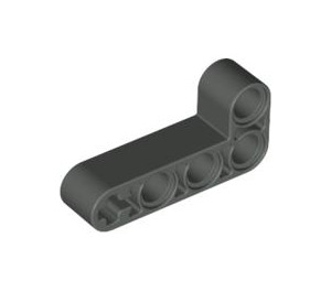 LEGO Dark Gray Beam 2 x 4 Bent 90 Degrees, 2 and 4 holes (32140)