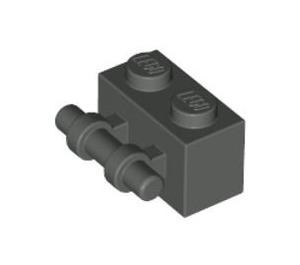 LEGO Dark Gray Brick 1 x 2 with Handle (30236)