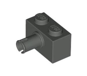 LEGO Dark Gray Brick 1 x 2 with Pin (2458)