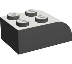 LEGO Dark Gray Brick 2 x 3 with Curved Top (6215)