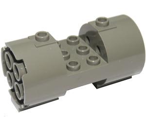 LEGO Dark Gray Cylinder 3 x 6 x 2 2/3 Horizontal Hollow Center Studs (30360)