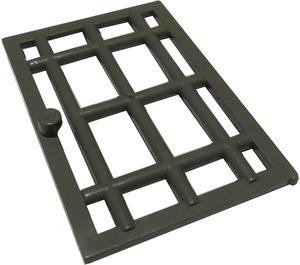 LEGO Dark Gray Door 6 x 7 Barred (4611)