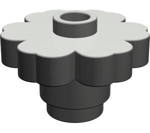 LEGO Dark Gray Flower 2 x 2 with Open Stud (4728)