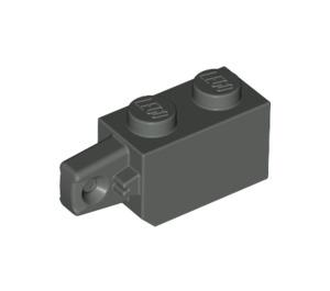 LEGO Dark Gray Hinge Brick 1 x 2 Locking with Single Finger (Vertical) On End (30364)