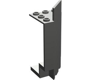 LEGO Dark Gray Panel Wall 3 x 3 x 6 Corner with Bottom Indentations (2345)
