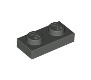 LEGO Dark Gray Plate 1 x 2 (3023)
