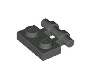 LEGO Dark Gray Plate 1 x 2 with Handle (Open Ends) (2540)