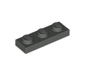 LEGO Dark Gray Plate 1 x 3 (3623)