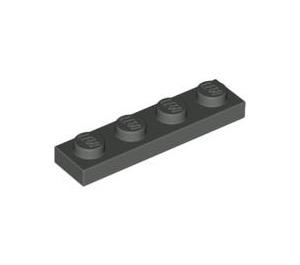 LEGO Dark Gray Plate 1 x 4 (3710)