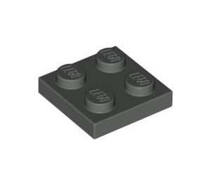 LEGO Dark Gray Plate 2 x 2 (3022)