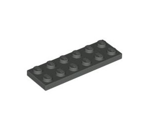 LEGO Dark Gray Plate 2 x 6 (3795)