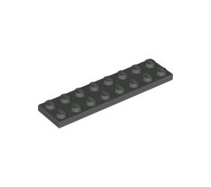 LEGO Dark Gray Plate 2 x 8 (3034)