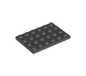 LEGO Dark Gray Plate 4 x 6 (3032)