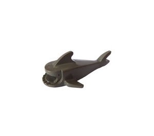 LEGO Dark Gray Shark with Rounded Nose