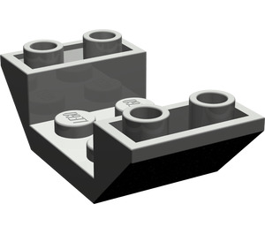 LEGO Dark Gray Slope 2 x 4 (45°) Double Inverted with Open Center (4871)