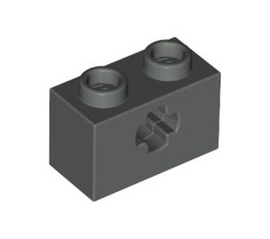 LEGO Dark Gray Technic Brick 1 x 2 with Axle Hole (Old Style with '+' Opening) (32064)