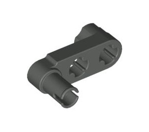 LEGO Dark Gray Technic Half Beam 3 with Knob and Pin (33299)