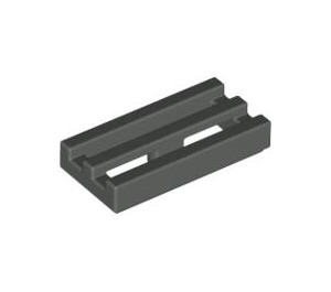 LEGO Dark Gray Tile 1 x 2 Grille (with Bottom Groove) (2412)