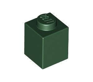 LEGO Dark Green Brick 1 x 1 (3005)
