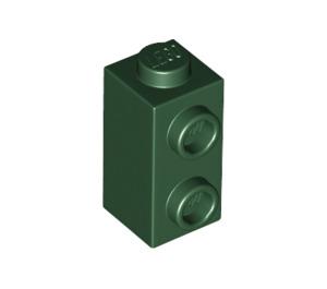 LEGO Dark Green Brick 1 x 1 x 1.3 with Two Side Studs (32952)