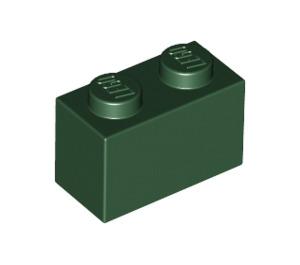 LEGO Dark Green Brick 1 x 2 (3004)