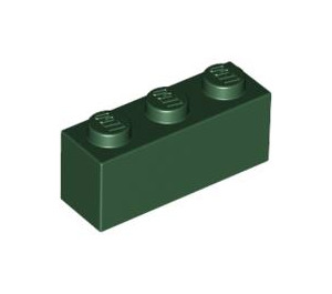 LEGO Dark Green Brick 1 x 3 (3622)