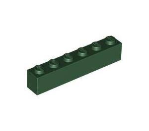 LEGO Dark Green Brick 1 x 6 (3009)