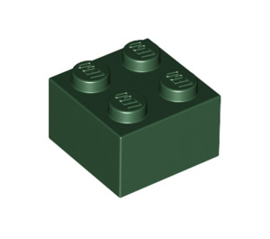 LEGO Dark Green Brick 2 x 2 (3003)