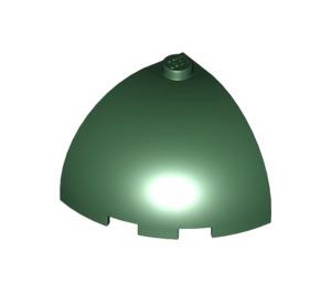 LEGO Dark Green Brick Corner Curved Quarter Dome 3 x 3 x 2 (88293)