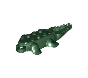 LEGO Dark Green Crocodile 4 x 9 Body (18904)