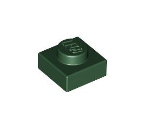 LEGO Dark Green Plate 1 x 1 (3024)