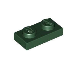 LEGO Dark Green Plate 1 x 2 (3023)