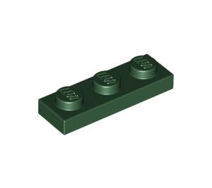 LEGO Dark Green Plate 1 x 3 (3623)