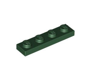 LEGO Dark Green Plate 1 x 4 (3710)