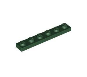 LEGO Dark Green Plate 1 x 6 (3666)