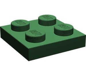 LEGO Dark Green Plate 2 x 2 (3022)