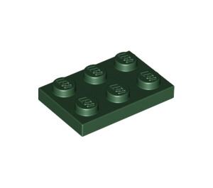 LEGO Dark Green Plate 2 x 3 (3021)